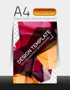 Vector A4 CMYK Modern Flyer Designのイラスト素材 [FYI03099739]