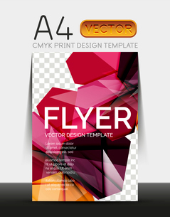 Vector A4 CMYK Modern Flyer Designのイラスト素材 [FYI03099746]