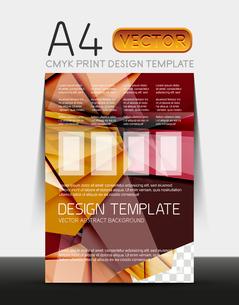 Vector A4 CMYK Modern Flyer Designのイラスト素材 [FYI03099749]