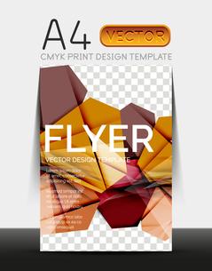 Vector A4 CMYK Modern Flyer Designのイラスト素材 [FYI03099753]