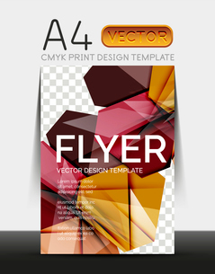 Vector A4 CMYK Modern Flyer Designのイラスト素材 [FYI03099757]