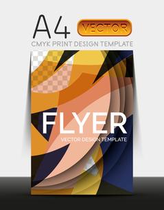 Vector A4 CMYK Modern Flyer Designのイラスト素材 [FYI03099782]