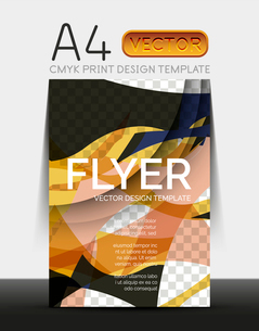 Vector A4 CMYK Modern Flyer Designのイラスト素材 [FYI03099783]