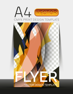 Vector A4 CMYK Modern Flyer Designのイラスト素材 [FYI03099788]