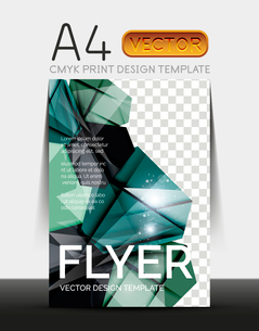 Vector A4 CMYK Modern Flyer Designのイラスト素材 [FYI03099805]