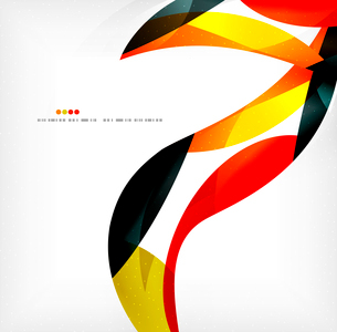 Business wave corporate background, flyer, brochure design templateのイラスト素材 [FYI03099817]