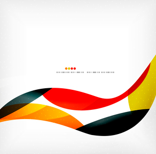 Business wave corporate background, flyer, brochure design templateのイラスト素材 [FYI03099821]