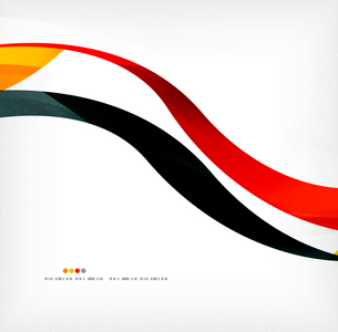 Business wave corporate background, flyer, brochure design templateのイラスト素材 [FYI03099823]