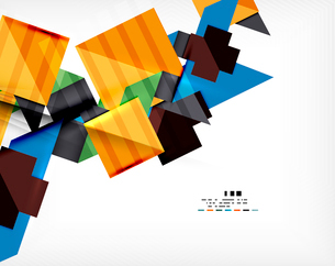 Geometric abstraction business poster. For banners, business backgrounds, presentationsのイラスト素材 [FYI03099898]