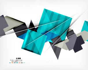Geometric abstraction business poster. For banners, business backgrounds, presentationsのイラスト素材 [FYI03099902]
