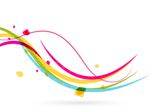 Colorful spring lines conceptual nature design. Wave linesのイラスト素材 [FYI03099909]