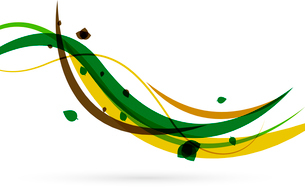 Colorful spring lines conceptual nature design. Wave linesのイラスト素材 [FYI03099920]