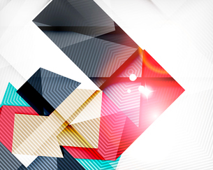 Abstract shapes background with light. Shiny abstractionのイラスト素材 [FYI03099948]
