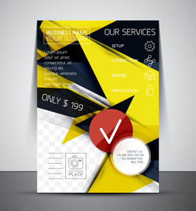 Business corporate flyer template | Abstract backgroundのイラスト素材 [FYI03099951]