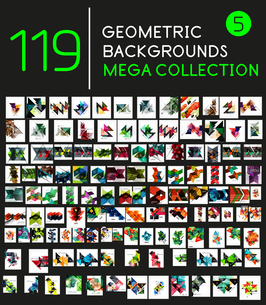 Huge mega collection of 119 geometric shape abstract backgroundsのイラスト素材 [FYI03099959]