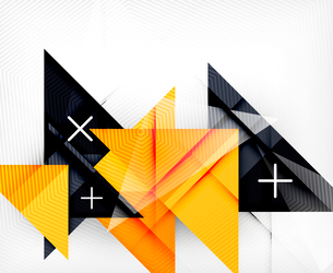 Triangle geometric shape abstract background. Bright abstractionのイラスト素材 [FYI03099960]