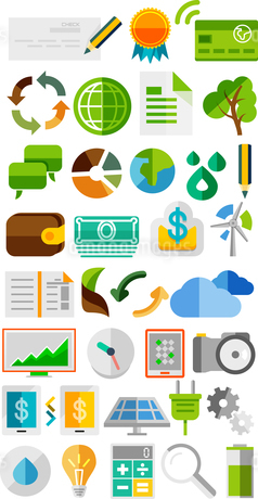 Collection of trendy flat color icons | concepts. Mega collectionのイラスト素材 [FYI03099963]