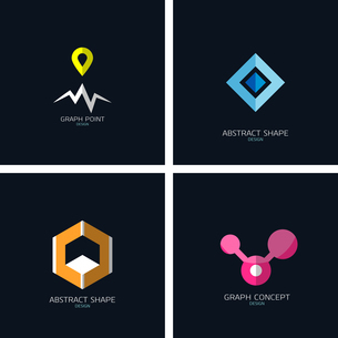 Business icons concept collection. Graph / map tag, 3d cube, info graphのイラスト素材 [FYI03099964]