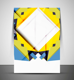 Multipurpose CMYK geometric print template without any sample textのイラスト素材 [FYI03099981]