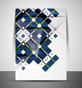 Multipurpose CMYK geometric print template without any sample textのイラスト素材 [FYI03099991]
