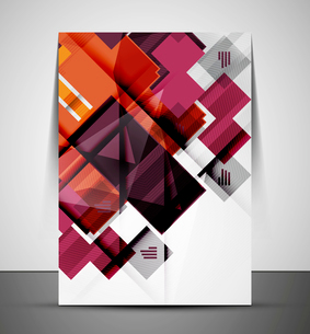 Multipurpose CMYK geometric print template without any sample textのイラスト素材 [FYI03099996]