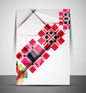 Multipurpose CMYK geometric print template without any sample textのイラスト素材 [FYI03099998]