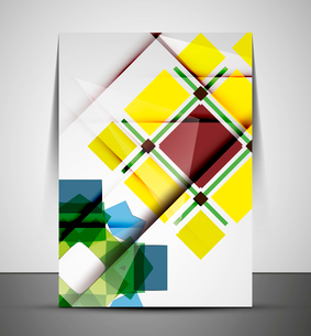 Multipurpose CMYK geometric print template without any sample textのイラスト素材 [FYI03100005]