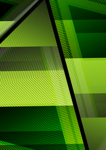 Glass geometric info background. Colorful abstractions with glossy elements for business / technologのイラスト素材 [FYI03100090]