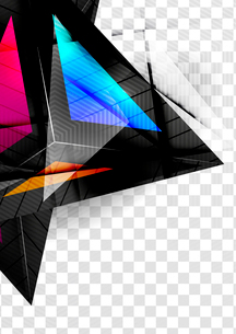 Glass geometric info background. Colorful abstractions with glossy elements for business / technologのイラスト素材 [FYI03100091]