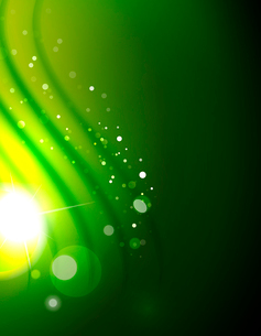 Hi-tech futuristic abstract blurred flares and green colorsのイラスト素材 [FYI03100101]