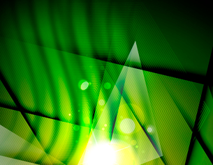 Hi-tech futuristic abstract blurred flares and green colorsのイラスト素材 [FYI03100108]