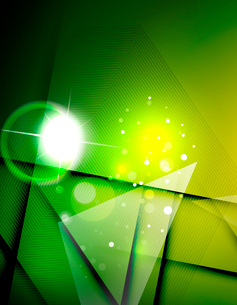 Hi-tech futuristic abstract blurred flares and green colorsのイラスト素材 [FYI03100109]