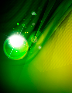 Hi-tech futuristic abstract blurred flares and green colorsのイラスト素材 [FYI03100110]