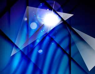 Hi-tech futuristic abstract blurred flares and blue colorsのイラスト素材 [FYI03100111]