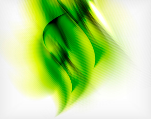 Green summer wave - business eco abstract backgroundのイラスト素材 [FYI03100117]