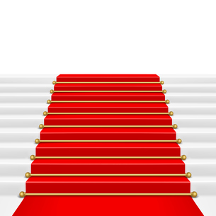 Red carpet with ladder. Clipping Mask. Mesh.のイラスト素材 [FYI03100212]