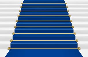 Blue  carpet with ladder. Mesh.のイラスト素材 [FYI03100214]