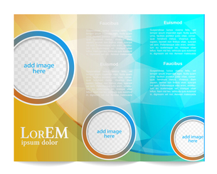 Tri-fold brochure templateのイラスト素材 [FYI03100219]