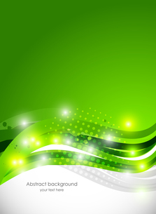 Abstract brochure in green colorのイラスト素材 [FYI03100220]