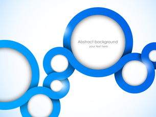 Abstract background with blue circlesのイラスト素材 [FYI03100224]