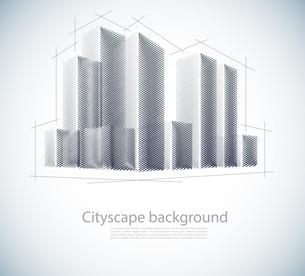 Buildings in sketchのイラスト素材 [FYI03100226]
