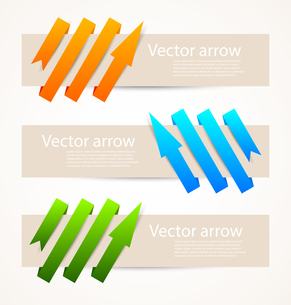 Set of abstract banners with arrowsのイラスト素材 [FYI03100230]