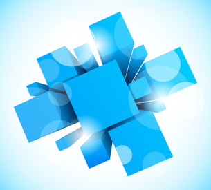 Abstract background with blue squaresのイラスト素材 [FYI03100233]