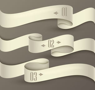 Set of ribbons. Infographic designのイラスト素材 [FYI03100258]