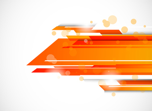 Abstract tech background in orange colorのイラスト素材 [FYI03100259]