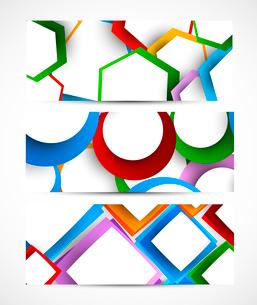 Set of geometric banners. Abstract illustrationのイラスト素材 [FYI03100273]