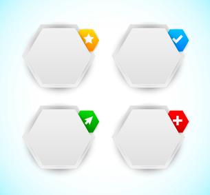 Set of design elements. Hexagonsのイラスト素材 [FYI03100282]