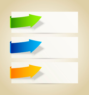 Set of abstract banners with arrowsのイラスト素材 [FYI03100283]