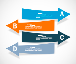 Set of arrows. Infographic designのイラスト素材 [FYI03100294]