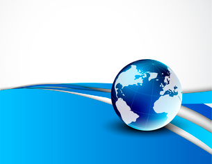 Abstract background with globe. Design templateのイラスト素材 [FYI03100311]